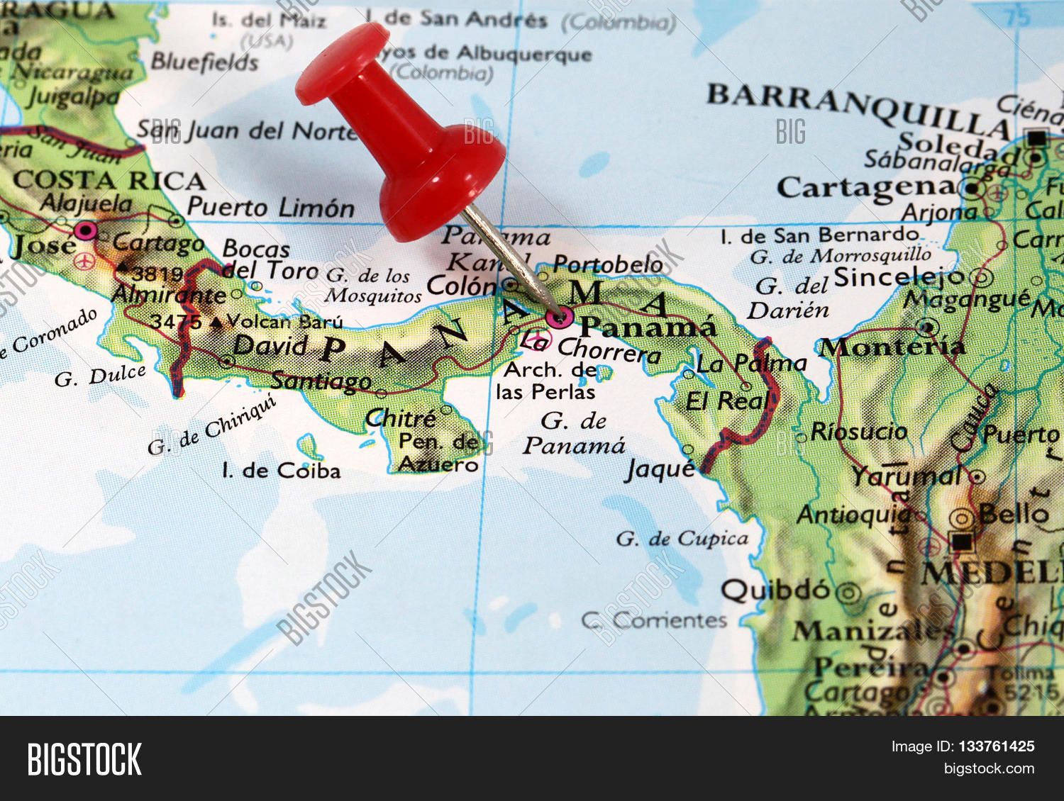 Map Pin Point Panama Image & Photo (Free Trial) | Bigstock