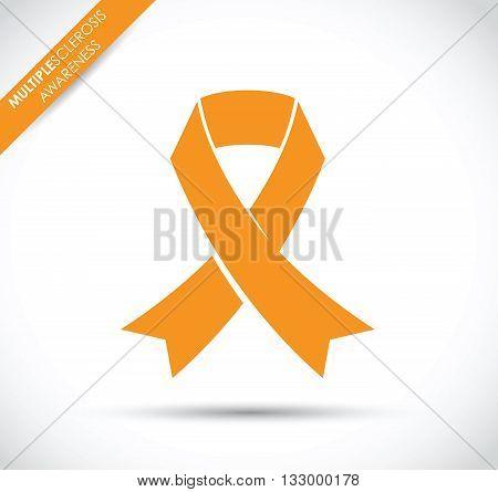 an orange multiple sclerosis awareness ribbon image