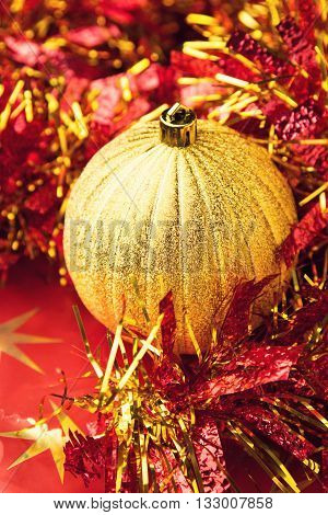 Festive Christmas holiday celebration ornaments set background