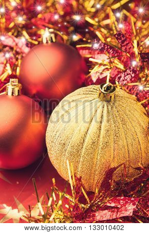 Festive Christmas holiday celebration background decoration set