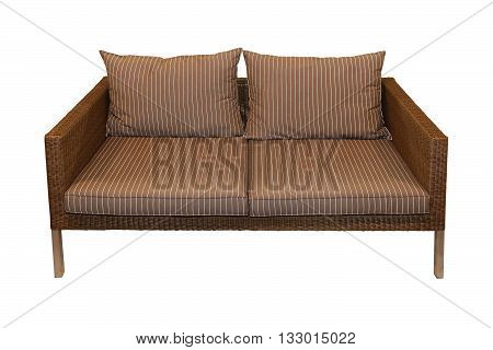 Sofa furniture for outdoor patio design isolated with clipping path