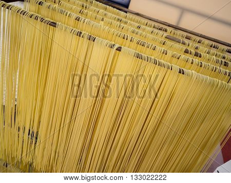 Italian hand made pasta home made speghetti