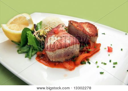 Oven Grilled Tuna Steak
