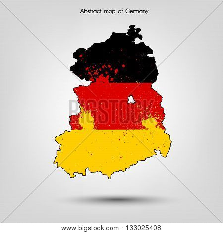 Abstract map of Germany. Vector illustration. Vector background