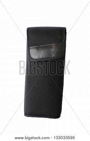 camera flash bag isolated on white color background