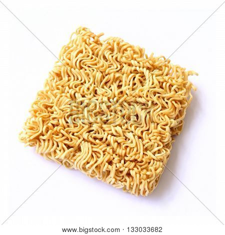 dry Noodle isolated on white color backgrond