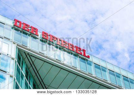 HAMBURG, GERMANY - MAY 22, 2016: Headquarter of German magazine and publishing house Der Spiegel.
