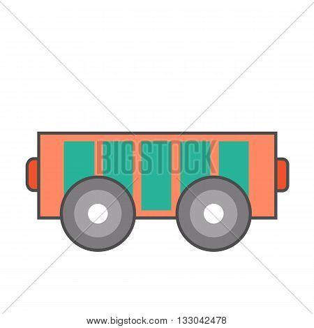 Electrocart line icon. Colored vector illustration of electric vehicle