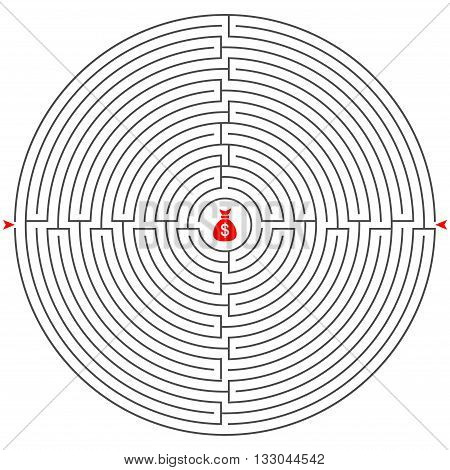 illustration rebus labyrinth vector play line gray