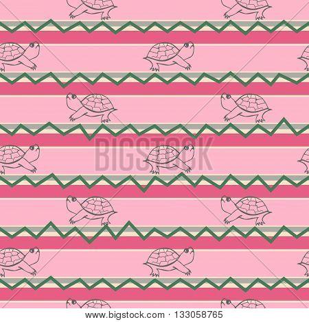 Turtle illustration pattern. Paisley mehndi style wallpaper pattern. The tortoise reptile animal pattern. Tattoo style tortoise-shell pattern. Turtle pattern in decorative doodle style.