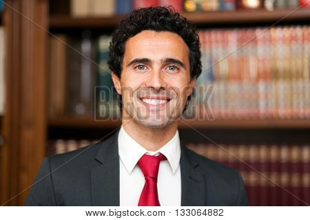 Smiling lawyer portrait