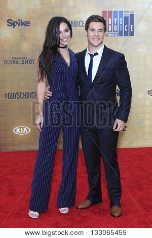 LOS ANGELES - JUN 4:  Chloe Bridges, Adam Devine at the 10th Annual Guys Choice Awards at the Sony Pictures Studios on June 4, 2016 in Culver City, CA