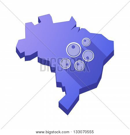 Illustration Of An Isolated Brazil Map With Oocytes