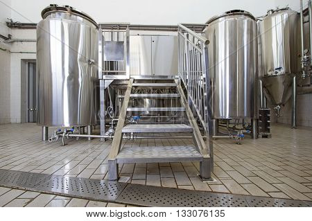 Small brewery,tanks and boilers for craft beer production