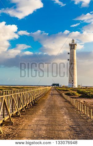 Lighthouse During Sunset - Morro Jable Fuerteventura Canary Islands Spain
