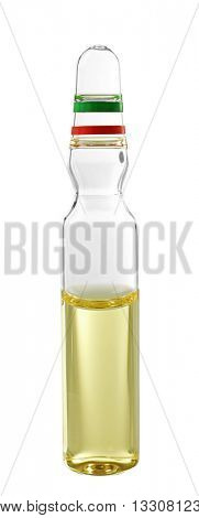 Medical ampoule on white background