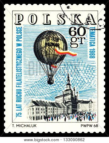 STAVROPOL RUSSIA - MAY 25 2016: a stamp printed in Poland shows Emblem Philatelic Exhibition Poznan 1968 circa 1968