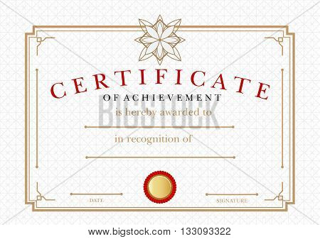 Diploma Certificate of Achievement, award  winner certificate