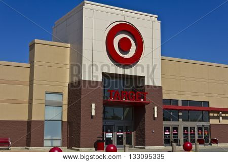 Indianapolis - Circa June 2016: Target Retail Store. Target Sells Home Goods Clothing and Electronics III