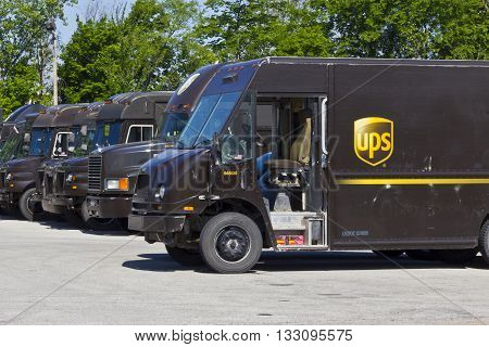 Indianapolis - Circa June 2016: United Parcel Service Location. UPS is the World's Largest Package Delivery Company IV