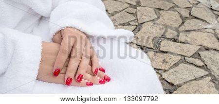 Closeup Of Female Hands