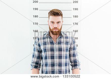 Mugshot of a handsome man
