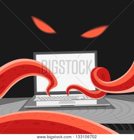 Computer Virus Vector Illustration eps 8 file format