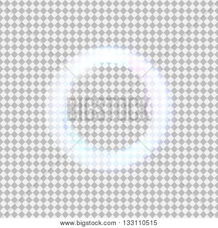 Vector glowing light cirlce on transparent background.