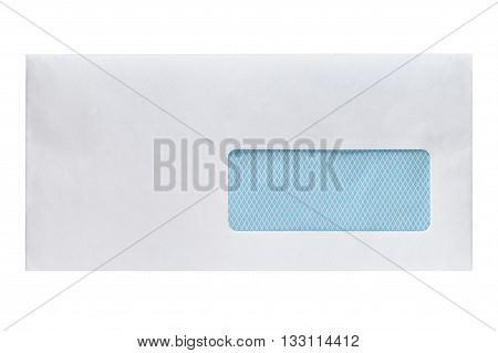 Blank envelope with window isolated on white background