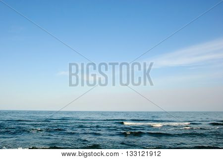 seascape sky sea waves background blue ocean