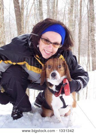 Best Friends In Snowfall