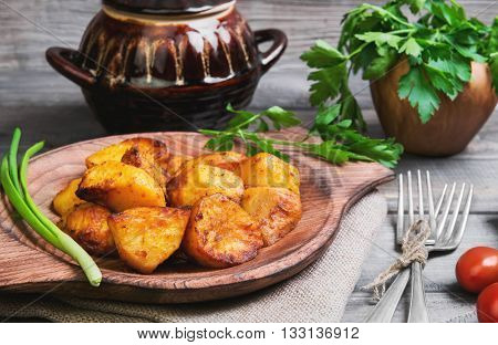 Baked Potatoes Roasted Pieces