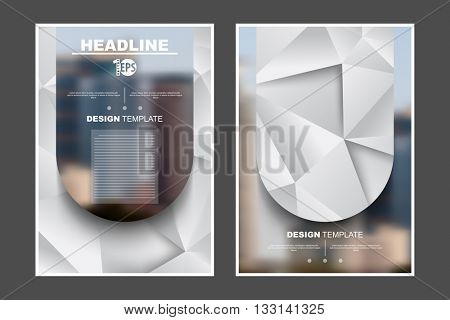 A4 size, abstract flat layout geometric elements marketing business corporate design template. eps10 vector