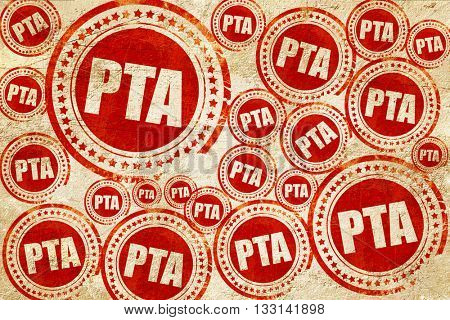 pta, red stamp on a grunge paper texture