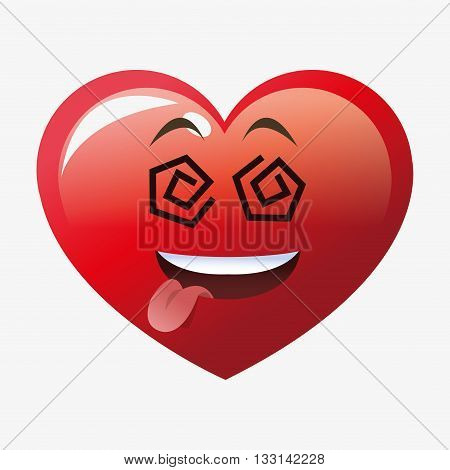Love concept with heart icon design, vector illustration 10 eps graphic.