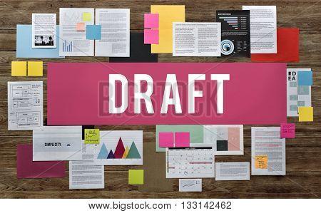 Draft Casual Communication Creativity Design Concept