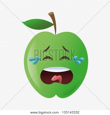 Fruit concept with apple icon design, vector illustration 10 eps graphic.