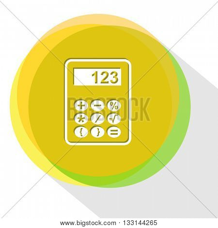 calculator. Internet template. Vector icon.