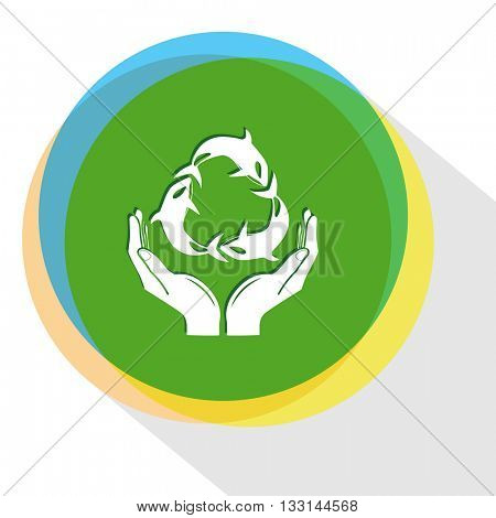 protection sea life. Internet template. Vector icon.