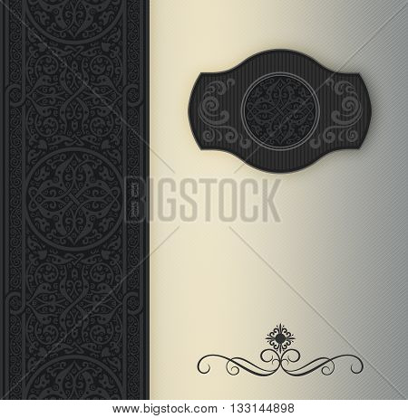 Vintage background with decorative ornamentframe and patterns.