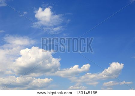 blue summer sky with nice clouds