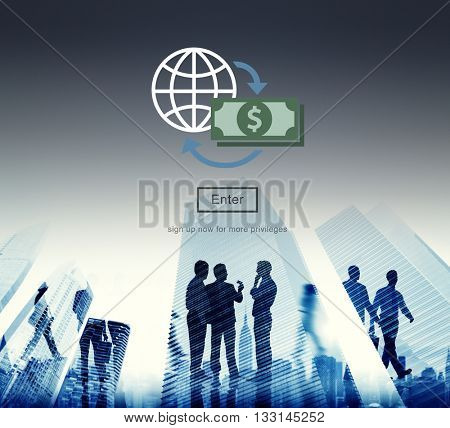 Global Financial Banking Investment Concept