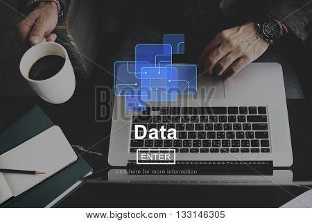 Data Information Online Storage Website Concept