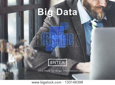 Big Data Information Cloud Technology Concept