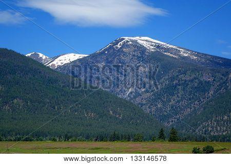 Montana's beautiful Bitterroot mountains create a beautiful background.
