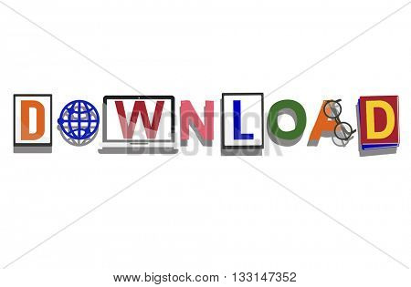 Download Save Graphics Illustration Concept