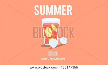 Summer Beach Relaxing Chill Holiday Concept
