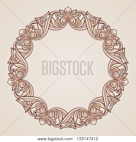 Round floral pattern in pastel rose pink shades
