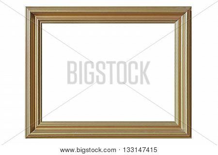 Empty Golden Picture Frames