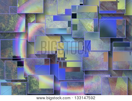Colorful Dimensional Abstract